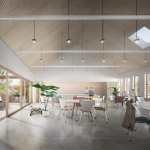 Cohousing BotaniCo in Leuven gemeenschappelijke ruimte