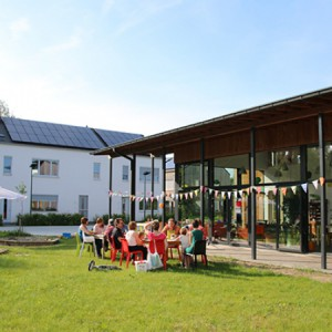 Cohousing Vinderhoute paviljoen gemeenschappelijke tuin