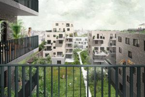 Cohousing Bijgaardehof uitzicht