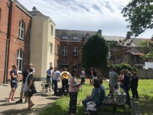 Cohousing De Kluis in Lier binnentuin