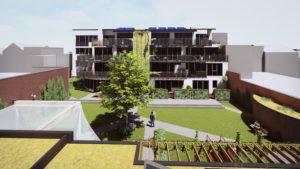 Cohousing InDruk in Borgerhout gemeenschappelijke tuin