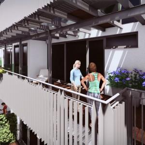 Cohousing InDruk Borgerhout terrassen