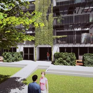 Cohousing InDruk Borgerhout gemeenschappelijke tuin