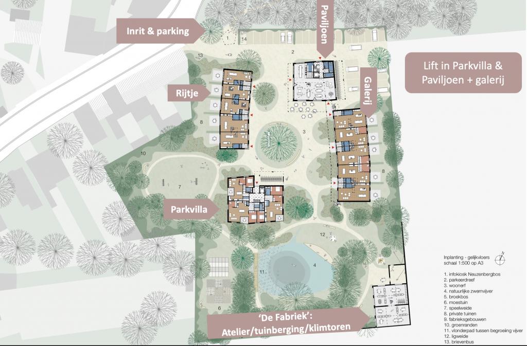 Cohousing Burcht masterplan antwerpen