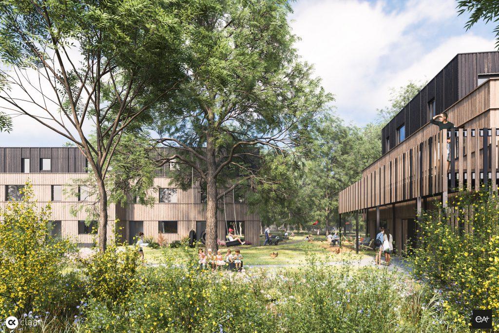 De gedeelde tuin van Cohousing Woestgoed Wondelgem