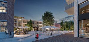 Cohousing Suikerpark in Veurne gemeenschappelijk terras