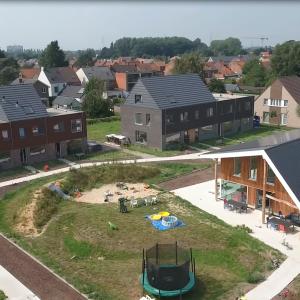 Cohousing Kerselaar in Oostakker gemeenschappelijke tuin