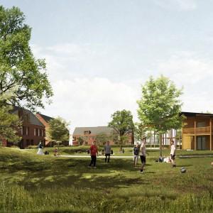 Cohousing Wijg & Co in Leuven gemeenschappelijke tuin