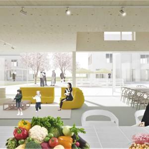 Cohousing Negenhoek in Kortenberg gemeenschappelijk paviljoen