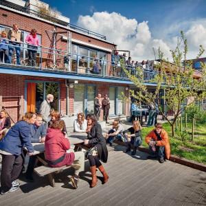 Cohousing Vrijburcht in Amsterdam zo kan Cohousing Minerve in Edegem er uit zien