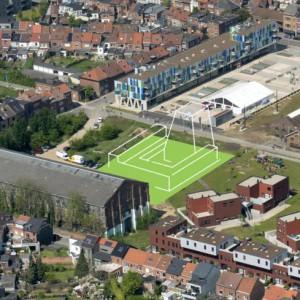 Cohousing 't Wisselspoor in Kessel-Lo schets