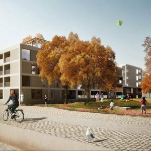 Cohousing Dubbeltuupe aan de nieuwe dokken park