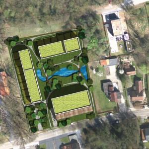 Cohousing Genk overzicht masterplan